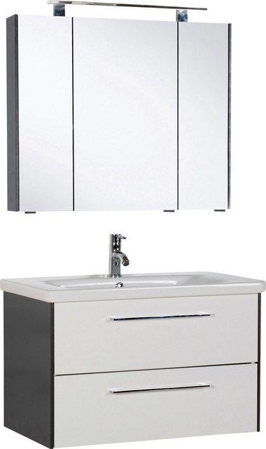 Badezimmer Sets - MARLIN Badmöbel Set »3400«, (Set, 2 tlg), Breite 80 cm  - Onlineshop OTTO