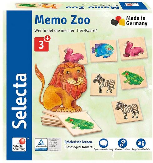 Selecta Spiel, »Memo Zoo«, aus Holz