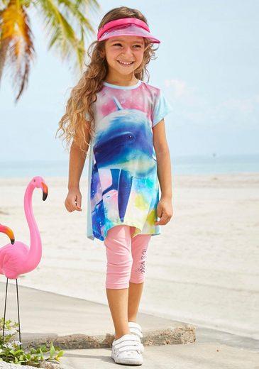 Arizona Shirt & Leggings (Set) mit Delfin-Fotomotiv