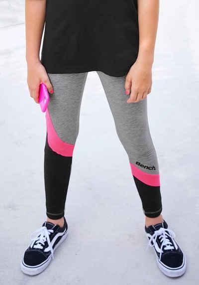 KANGAROOS Sport Leggings Gr 152 bis 182 schwarz pink Sporthose Mädchen