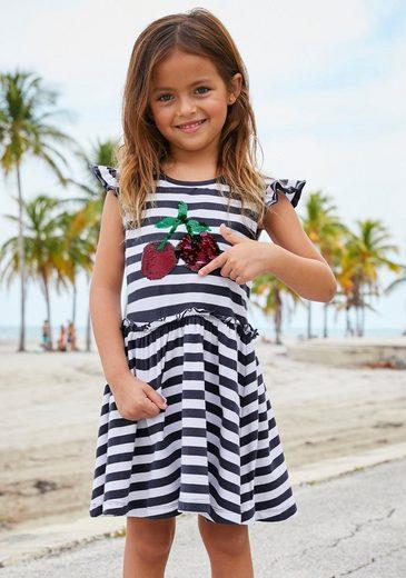 KIDSWORLD Jerseykleid mit Wendepailletten