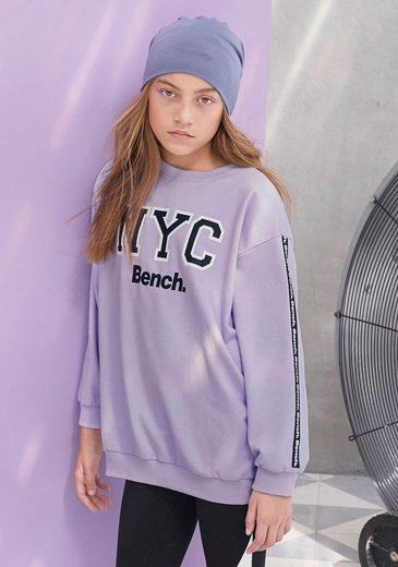Bench. Sweatshirt oversize - mit Logo-Print am Ärmel
