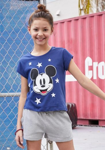 Disney T-Shirt »Mickey Mouse« in kurzer Form