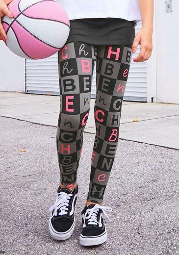 Bench. Leggings mit Logo-Allover-Druck