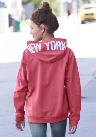 Arizona Sweatshirt »NEW YORK« in weiter, modischer Form mit Kapuzendruck