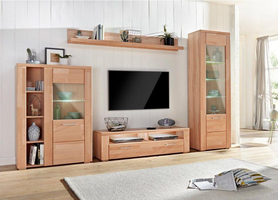 Wohnwand »Celle«, (Set, 4-tlg), Pflegeleichte Oberflächen Online Kaufen