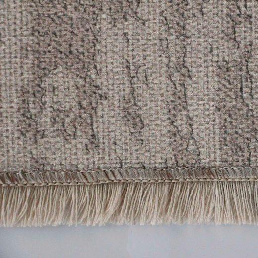 Teppich »Majestik 1000«  Sehrazat  rechteckig  Höhe 5 mm  Kurzflor mit Fransen