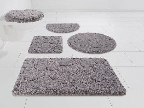 Badematte »Steine« my home, Höhe 20 mm, strapazierfähig, 3-D Optik