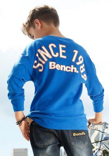 Bench. Langarmshirt »Interlockshirt« mit überschnittener Schulter