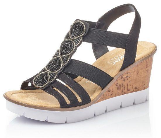 Rieker Sandalette mit Zierperlen aufwendig besetzt