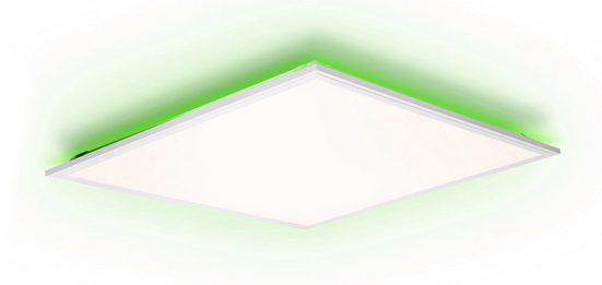 my home LED Panel »IAN«, flache Deckenlampe 60x60 cm, dimmbar, CCT Farbtemperatursteuerung (2700K - 6500K), RGB Backlight, inkl. Fernbedienung, Nachtlichtfunktion