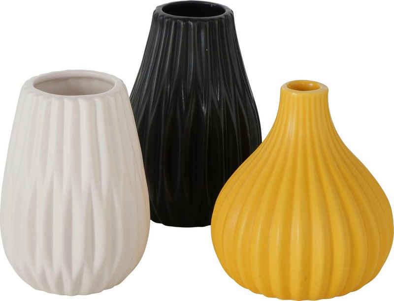 BOLTZE Tischvase »Wilma« (Set, 3 Stück), aus Keramik
