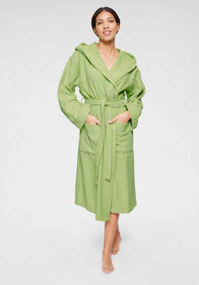 Unibelle/Damen/Bademantel/Morgenmantel/Kimono/Robe/Kurz/Nachtw/äsche/Sleepwear/Saunamantel/V/Ausschnitt/mit/G/ürtel/S-XXL