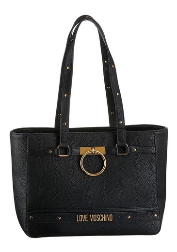 LOVE MOSCHINO Shopper, mit dekorativem Ring