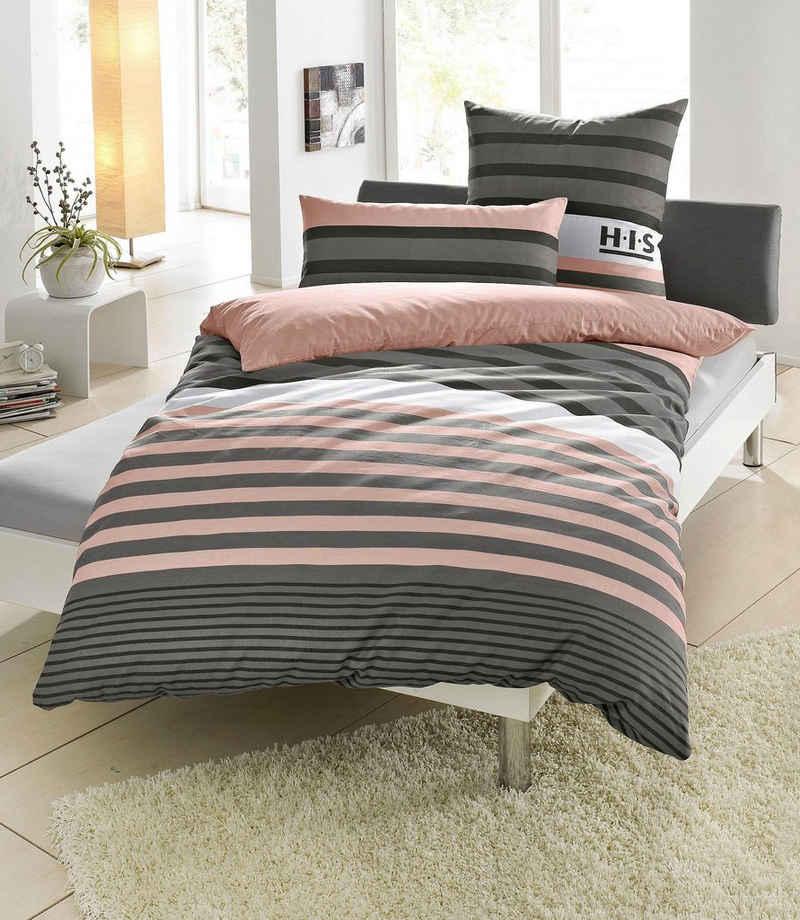 Bettwäsche »Majoran«, mit Streifen