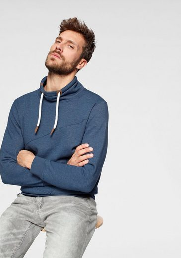 John Devin Sweatshirt mit modernem Schlauchkragen