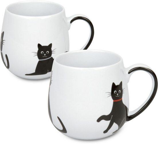 Könitz Becher »My lovley cats - Kuschelbecher« (2-tlg), Porzellan