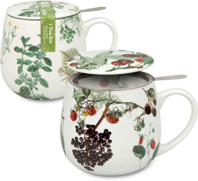 Könitz Becher »Kräuter/Früchte Tea 4 you«, Porzellan, 2-teilig