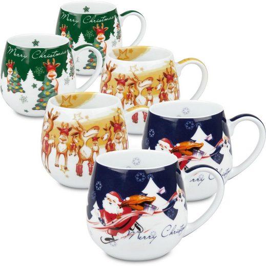 Könitz Becher »Merry Christmas - Kuschelbecher« (6-tlg), Porzellan