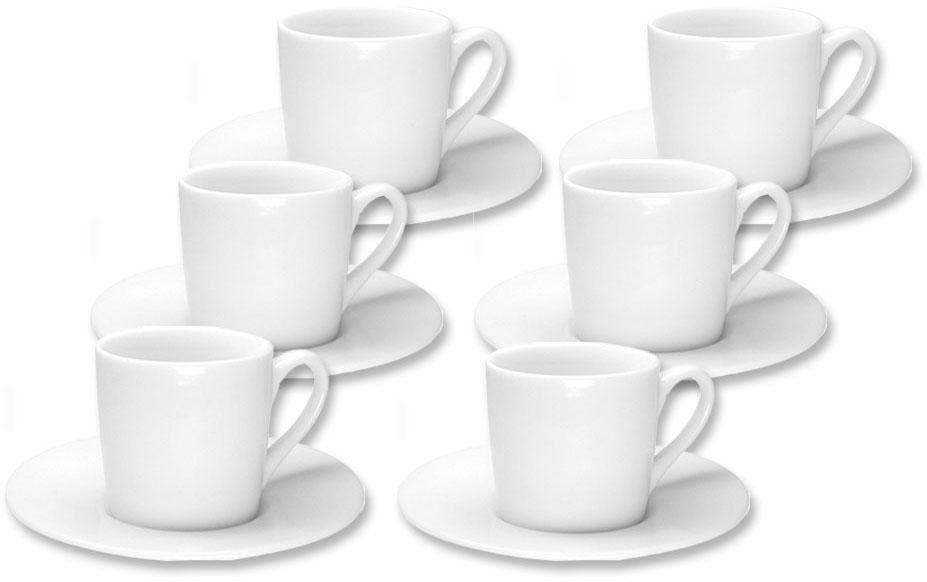 2 Tassen /& 2 Untertassen 30 ml Porzellan Weiß Kahla Espresso Set 4tlg