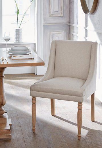 Guido Maria Kretschmer Home&Living 4-Fußstuhl »Davit«, mit schöner Sitzpolsterung und geschwungenen, anliegenden Armlehnen