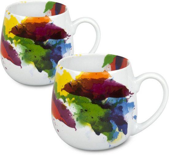 Könitz Becher »On Colour - Kuschelbecher« (2-tlg), Porzellan