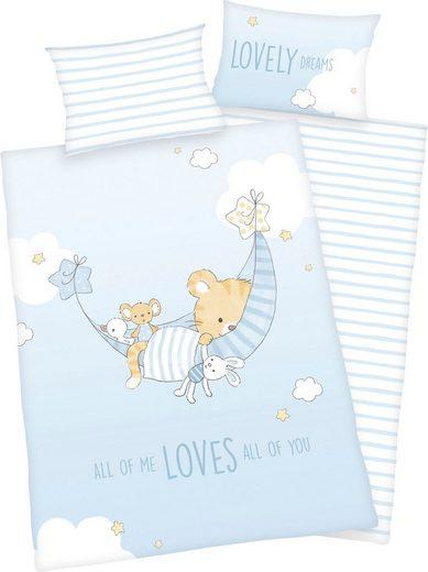 Babybettwäsche »Little Tiger«, Baby Best, mit niedlichem Motiv und liebevollem Schriftzug