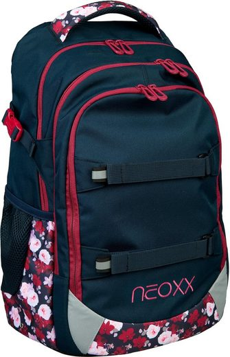 neoxx Schulrucksack »Active, My heart blooms«, aus recycelten PET-Flaschen