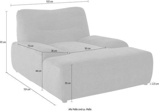 DOMO collection Loveseat