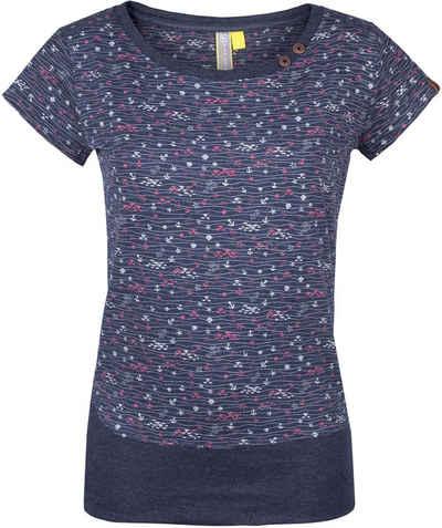 2 Blue Sisters 100/% Seiden Bluse T-Shirt Hüftlang Kurzarm U-Ausschnitt Gr M