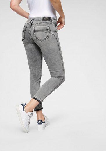 Herrlicher Slim-fit-Jeans »TOUCH CROPPED« Low Waist Ultra-Stretchjeans mit Cut Off Saum und Push-up-Effekt