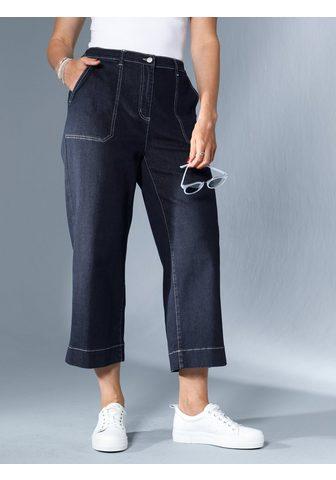 MIAMODA Кюлоты с kontrastfarbenen вышивка