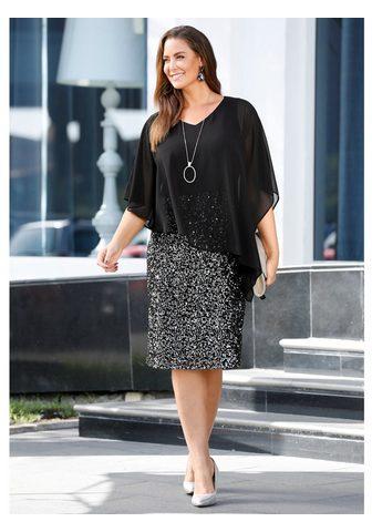 MIAMODA Коктейльное платье с юбка блестящая