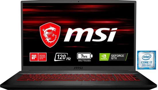MSI GF75 9SC-470 Thin Notebook (43,9 cm/17,3 Zoll, Intel Core i7, GTX 1650, 512 GB SSD)