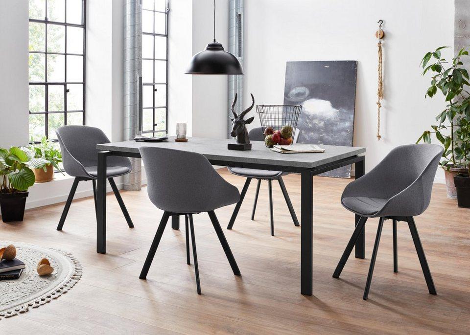 Essgruppe, mit 4 Stühle, Rechteckige Tischplatte online kaufen   OTTO