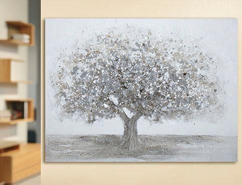 GILDE Leinwandbild »Gemälde Baum«