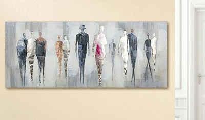 GILDE Leinwandbild »Gemälde People«, (1 Stück), moderner Stil, handgemalt, Wohnzimmer