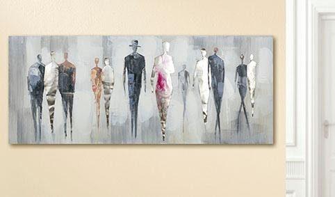GILDE Leinwandbild »Gemälde People«