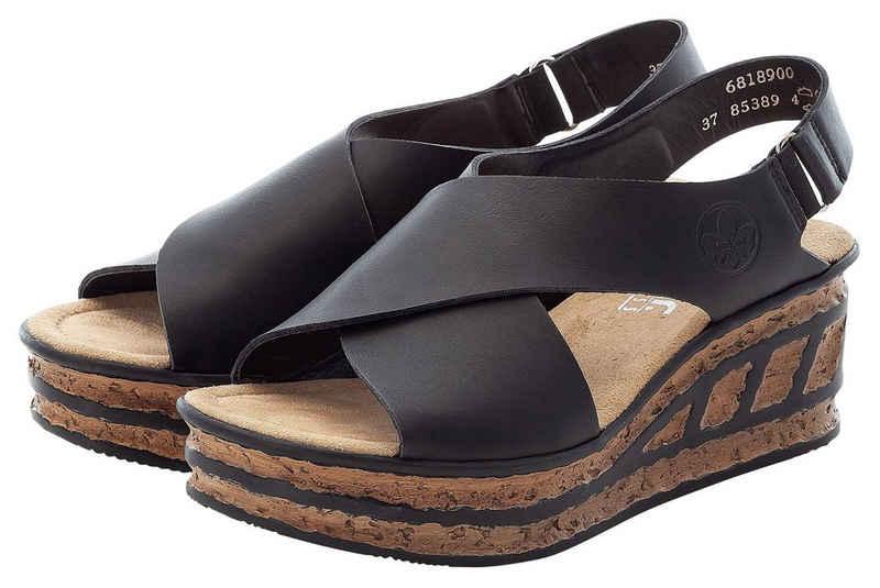 Rieker Sandalette mit Klettverschluss-Riemchen