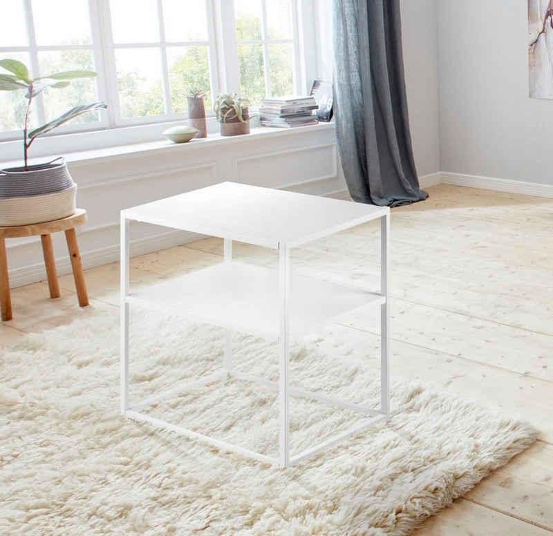 andas Nachttisch »Vilho«, aus einem schönen weißen Metallgestell und einer Ablegemöglichkeit