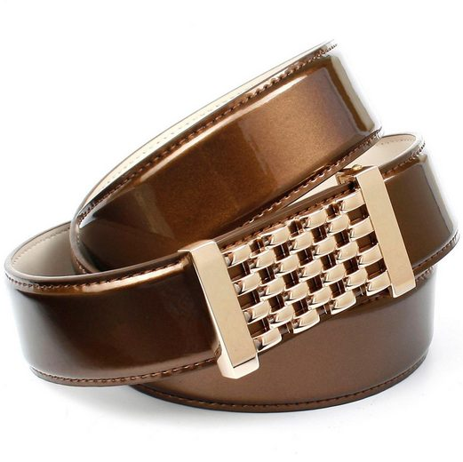 Anthoni Crown Ledergürtel mit Fashion-Koppelschließe