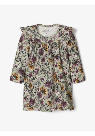 Цветочным узором платье