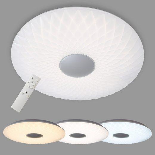 Briloner Leuchten LED Deckenleuchte »Ricky«, 1-flammig, Deckenlampe mit Farbtemperatursteuerung, dimmbar