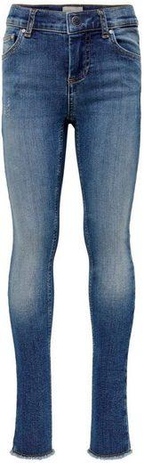 KIDS ONLY Skinny-fit-Jeans »KONBLUSH SKINNY RAW« mit offener Saumkante