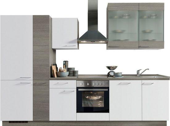 Express Küchen Küchenzeile »Trea«, ohne E-Geräte, vormontiert, mit Vollauszug und Soft-Close-Funktion, Breite 310 cm