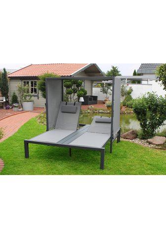 LECO Sodo sofa-lova »Anni« Alu/Textil grau