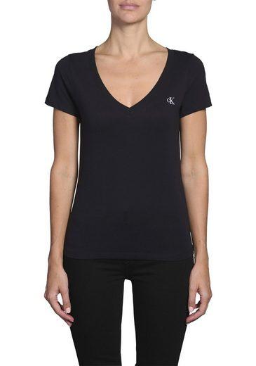 Calvin Klein Jeans V-Shirt »CK EMBROIDERY STRETCH V-NECK« mit CK Logo-Stickerei
