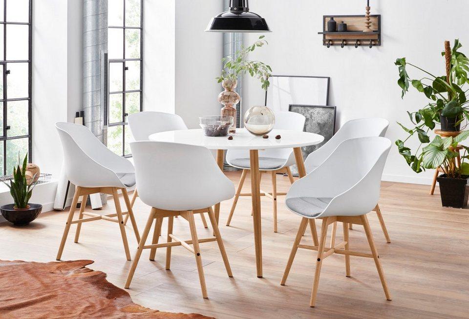 Essgruppe, mit 4 Stühle, FSC® zertifizierter Holzwerkstoff online kaufen   OTTO