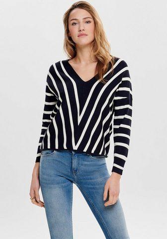 ONLY Пуловер с V-образным вырезом »ON...