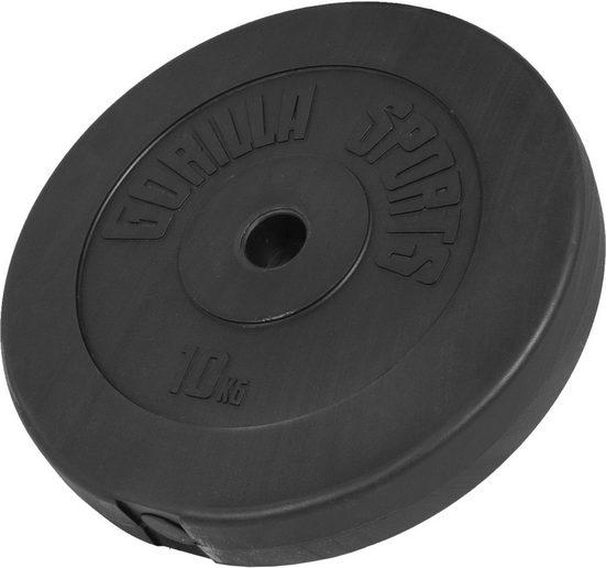 GORILLA SPORTS Hantel »Hantelscheibe Kunststoff 10 kg«, 10 kg